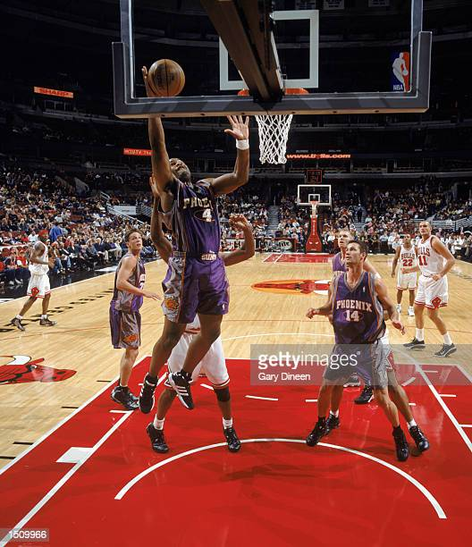 Alton Ford of the Phoenix Suns handles the ball during the NBA preseason game against the Chicago Bulls at the United Center in Chicago Illinois on...
