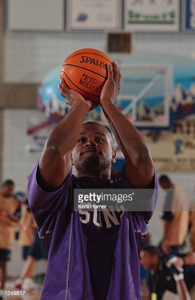 Alton Ford of the Phoenix Suns puts a shot up before the game against the Denver Nuggets during the Rocky Mountain Revue Summer League on July 25...