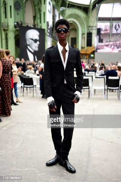 Alton Mason at Karl for Ever Tribute to Karl Lagerfeld at Grand Palais on June 20 2019 in Paris France