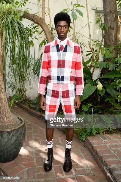 Alton Mason attends CFDA/Vogue Fashion Fund Show and Tea at Chateau Marmont at Chateau Marmont on October 25 2017 in Los Angeles California