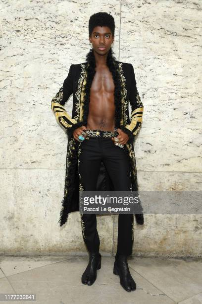 Alton Mason attends the Paco Rabanne Womenswear Spring/Summer 2020 show as part of Paris Fashion Week on September 26 2019 in Paris France