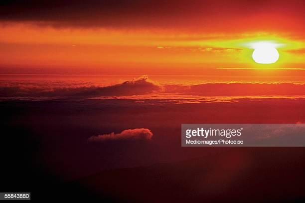Altostratus clouds at sunset