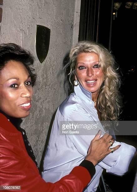 Altovise Davis and Dani Janssen during Dani Janssen and Altovise Davis at La Scala in Beverly Hills February 12 1981 at La Scala in Beverly Hills...