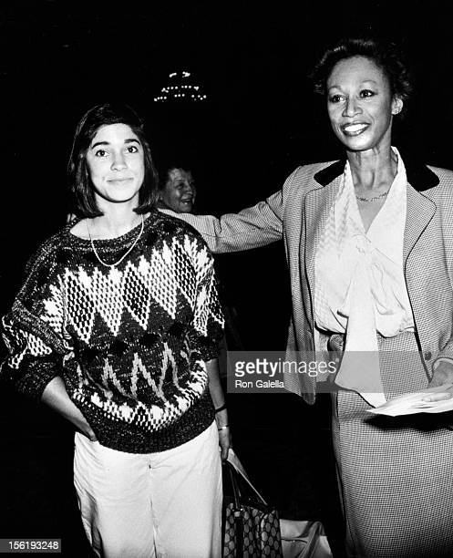Altovise Davis and daughter Tracey Davis attend Fourth Annual Celebrity MotherDaughter Fashion Show on March 28 1985 at the Beverly Hilton Hotel in...