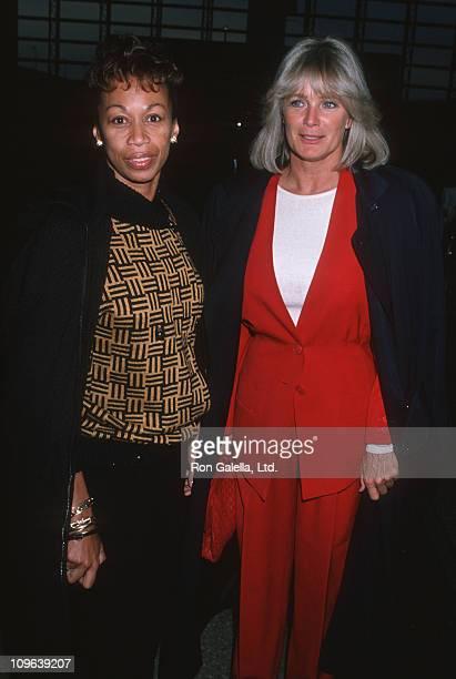 Altovise Davis and Linda Evans during Linda Evans Sighting at Los Angeles International Airport October 6 1989 at Los Angeles International Airport...