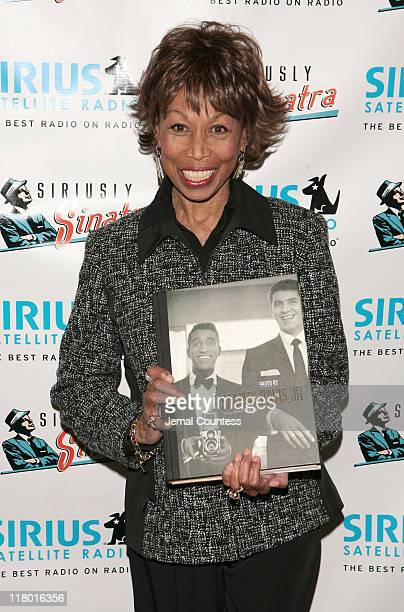 Altovise Davis widow of Sammy Davis Jr at the Sirius Radio Press Conference announcing the launch of the Siriusly Sinatra channel on Sirius Satellite...