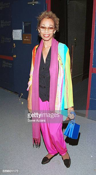 Altovise Davis wife of Sammy Davis Jr backstage at Westbury Music Fair