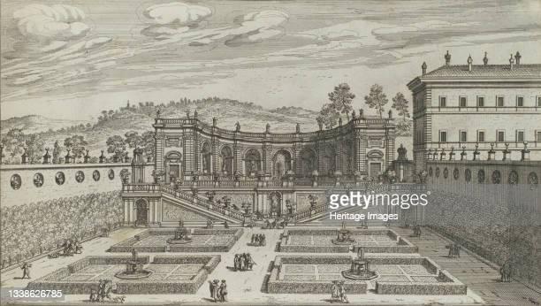 Altra Vedvta in Prospettiva del Teatro et Giardino Contigvo di Mondragone in Frascati, architettura di Giovanni Fontana, 1691 or after. [Another...