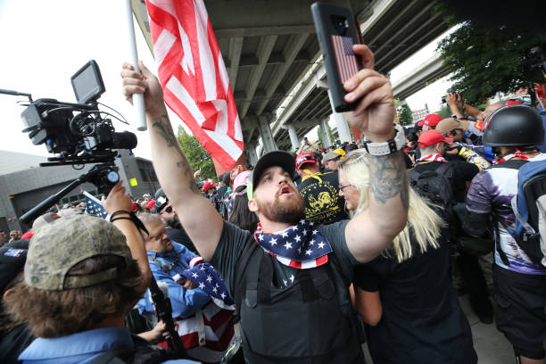 OR: Alt Right Group Holds Rally In Portland, Oregon