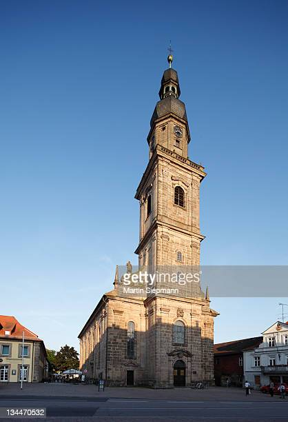 altstaedter kirche church, holy trinity church, erlangen, middle franconia, franconia, bavaria, germany, europe - kirche stock pictures, royalty-free photos & images