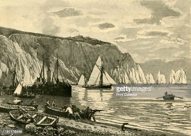 """Alum Bay', 1898. From """"Our Own Country, Volume IV"""". [Cassell and Company, Limited, London, Paris & Melbourne, 1898]. Creator Unknown."""