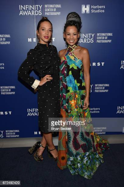 Alum Zoe Buckman and Fashion Designer Anya AyoungChee attend The International Center of Photography's 33rd Annual Infinity Awards at Pier 60 on...