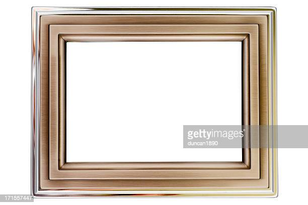 Aluminium and silver picture frame