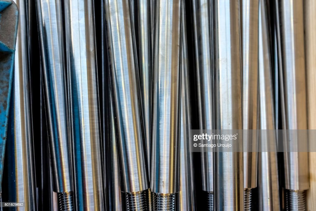 Aluminium anodising piping : Stock Photo