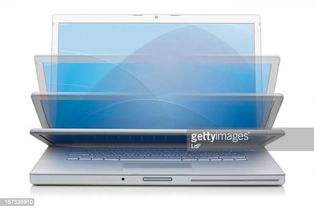 Aluminium Laptop schließen