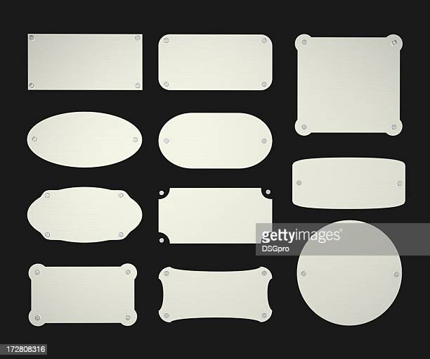 aluminium plate - nameplate stock pictures, royalty-free photos & images