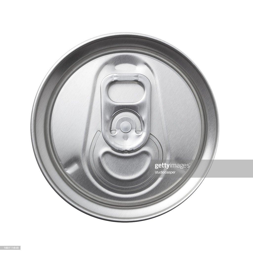 aluminum can top macro : Stock Photo