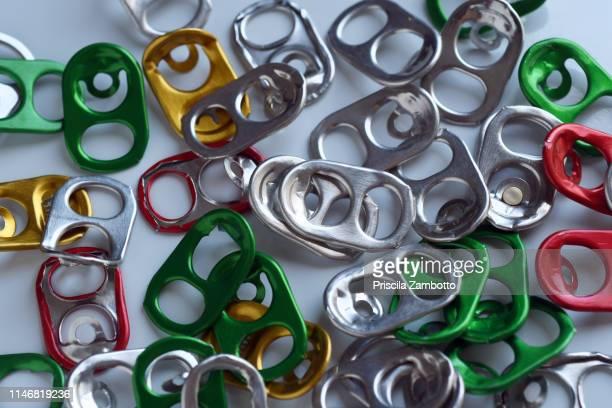 aluminum tin seals - tin can stock pictures, royalty-free photos & images