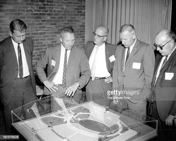AUG 15 1966 AUG 17 1966 Alumni View Plans For Proposed CSU Stadium Colorado State University Coach Mike Lude discusses plans for the proposed CSU...