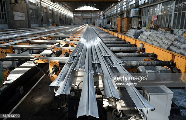 Alumroll Novin Aluminum Factory is seen in Arak Iran on October 6 2016 Alumroll Novin Aluminum Factory employs 750 workers and exports Aluminum to...