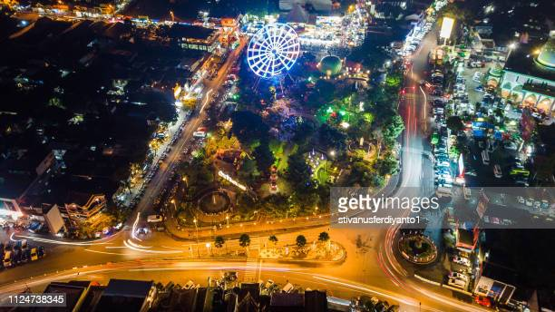 alun alun kota batu, malang, east java, indonesia - east java province stock pictures, royalty-free photos & images