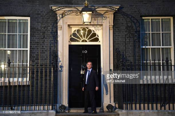 Alun Cairns arrives at Number 10 Downing Street on July 24 2019 in London England Boris Johnson took the office of Prime Minister of the United...