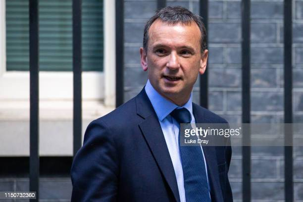 Alun Cairns Secretary of State for Wales departs after attending a weekly meeting of cabinet ministers at number 10 Downing Street on May 21 2019 in...