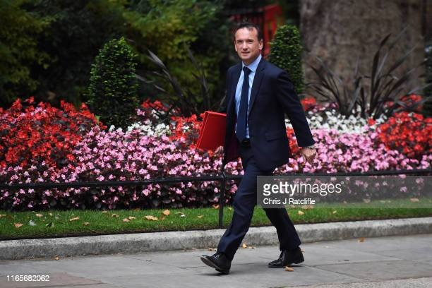 Alun Cairns the Secretary of State for Wales arrives at 10 Downing Street on September 2 2019 in London England Boris Johnson has called an emergency...