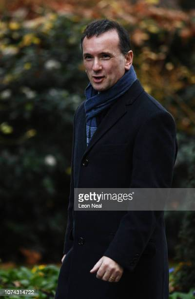 Alun Cairns the Secretary of State for Wales arrives in Downing Street on December 17 2018 in London England The UK political week picked up where it...