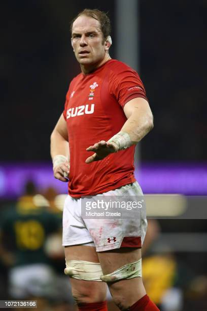Alun Wyn Jones of Wales during the International Friendly match between Wales and South Africa at Principality Stadium on November 24 2018 in Cardiff...