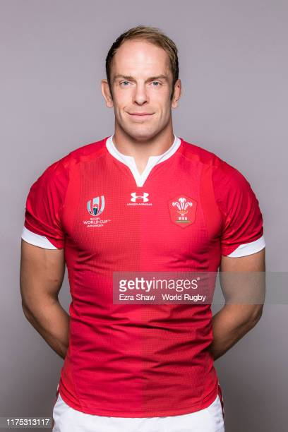 Alun Wyn Jones of Wales poses for a portrait during the Wales Rugby World Cup 2019 squad photo call on on September 17 2019 in Kitakyushu Fukuoka...
