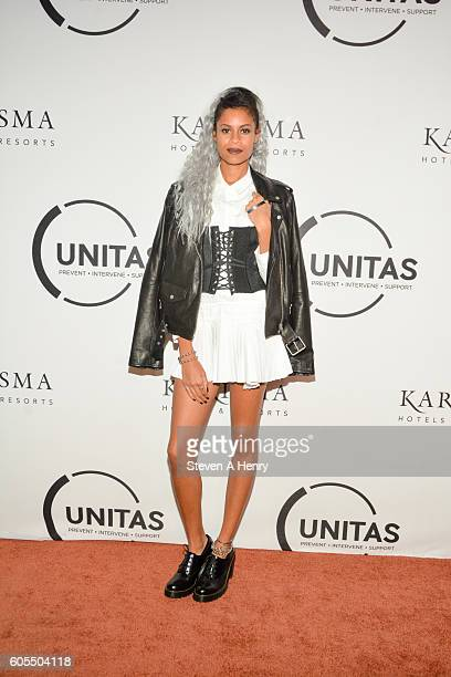 Aluna Francis attends the 2nd Annual Unitas Gala Against Human Trafficking at Capitale on September 13 2016 in New York City