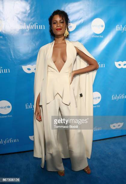 AlunaGeorge at the UNICEF Next Generation Masquerade Ball at Clifton's Republic on October 27 2017 in Los Angeles California