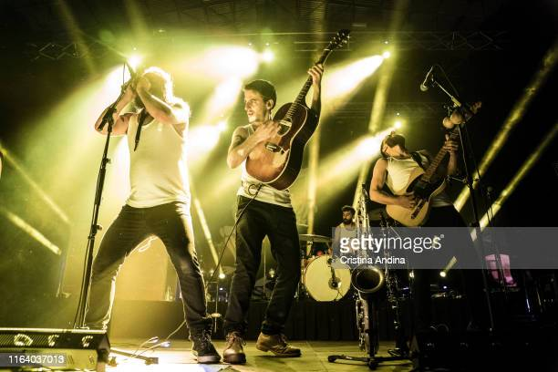 Alvar de Pablo David Ruiz and Nacho Mur of La MODA perform on stage on July 24 2019 in Santiago de Compostela Spain