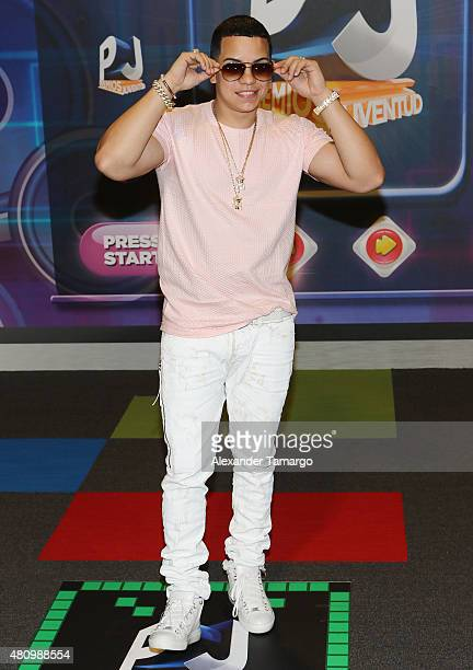 Alvarez is seen arriving at Univision's Premios Juventud 2015 at the Bank United Center on July 16 2015 in Miami Florida
