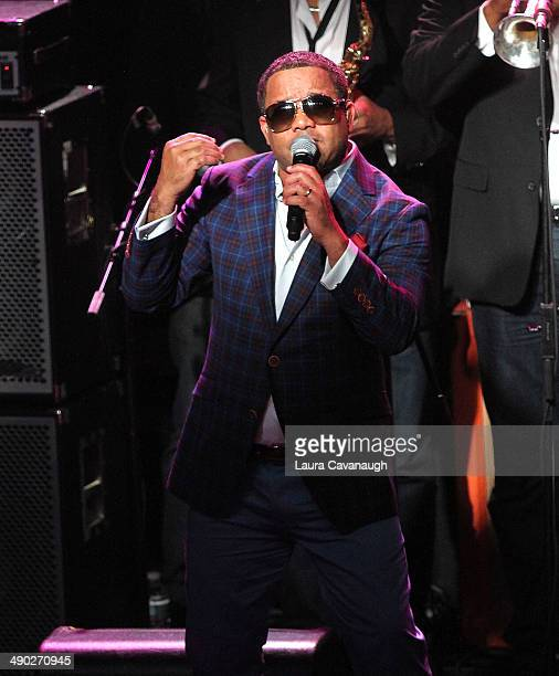 J Alvarez performs during Univision Radio's Uforia Concert at Webster Hall on May 13 2014 in New York City