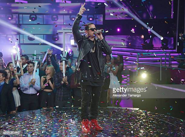 Alvarez performs on stage during the Nuestra Belleza Latina Grand Finale at Univision Studios on April 12 2015 in Miami Florida