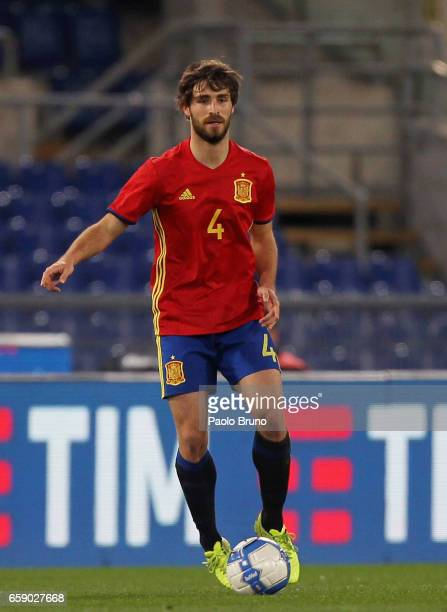 Alvarez Yeray of Spain in action during the international friendly match between Italy U21 and Spain U21 at Olimpico Stadium on March 27 2017 in Rome...