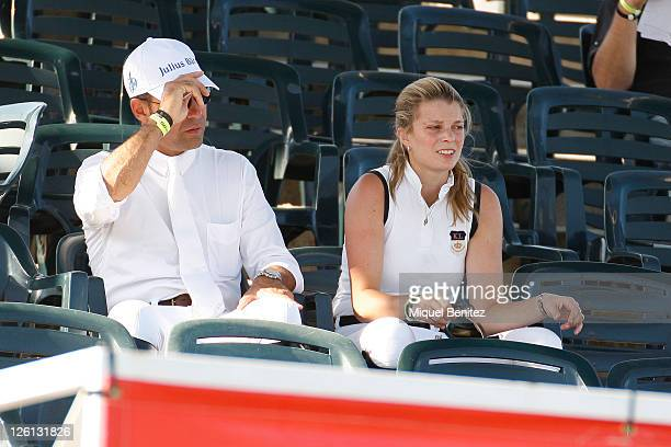 Alvaro Alfonso de Miranda Neto and Athina Onassis attend the CSIO Barcelona 100th International Show Jumping Competition at the Real Club de Polo on...