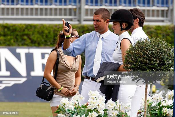 Alvaro Alfonso de Miranda Neto and his wife Athina Onassis de Miranda attend the CSIO Barcelona 100th International Show Jumping Competition at the...