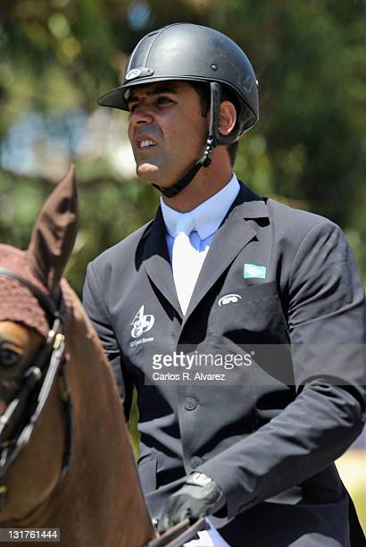 Alvaro Alfonso de Miranda Neto competes during the Global Champion Tour Jumping 2010 day 3 on July 3 2010 in Estoril Portugal
