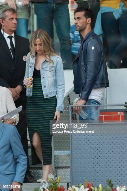 Alvaro Arbeloa and his wife Carlota Ruiz are seen attending the Mutua Madrid Open tennis tournament at the Caja Magica on May 10 2018 in Madrid Spain