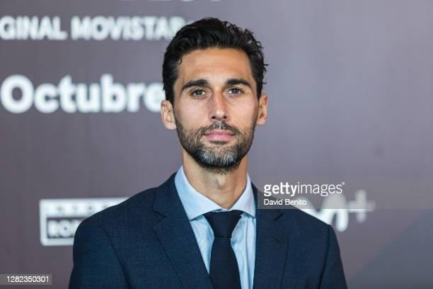 Alvaro Arbeloa attends 'Informe Robinson: Michael Robinson: Good, Better, Best' Movistar Presentation at Cineteca Matadero on October 26, 2020 in...