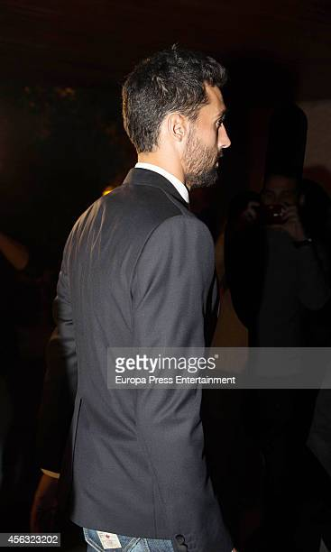 Alvaro Arbeloa attends the memorial service for Real Madrid legend and honorary president Alfredo Di Stefano who died aged 88 in July 2014 at...
