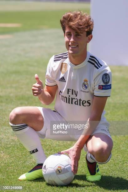 Alvaro Arbeloa during press conference of presentation of Alvaro Odriozola as new Real Madrid player at Santiago Bernabéu Stadium in Madrid Spain...