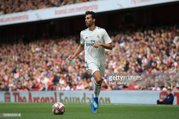 Alvaro Arbeloa of Real Madrid during the match between Arsenal Legends and Real Madrid Legends at Emirates Stadium on September 8 2018 in London...