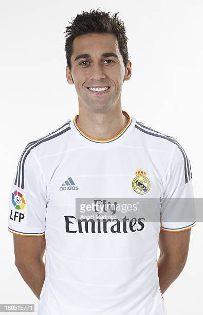 Alvaro Arbeloa of Real Madrid poses during the official team photo session at Valdebebas training ground on September 13 2013 in Madrid Spain