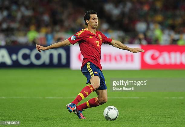 Alvaro Arbeloa of Spain during the UEFA EURO 2012 final match between Spain and Italy at the Olympic Stadium on July 1, 2012 in Kiev, Ukraine.