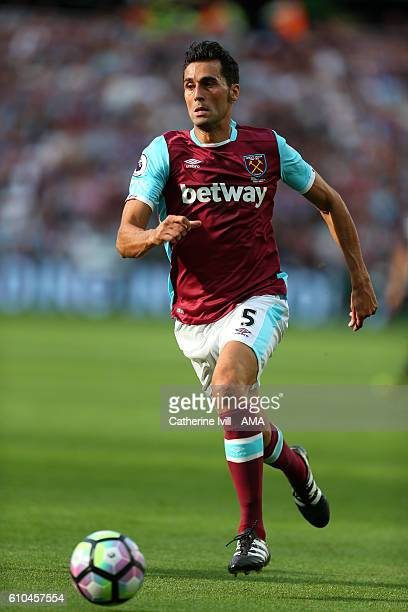Alvaro Arbeloa of West Ham during the Premier League match between West Ham United and Southampton at London Stadium on September 25 2016 in...
