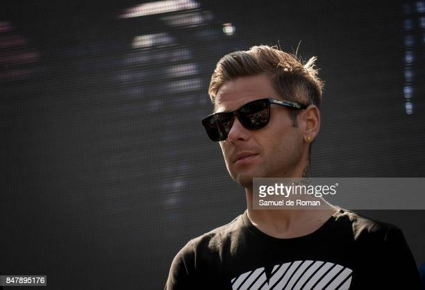 Alvaro Bautista during the Funeral Tribute For Angel Nieto in Madrid on September 16 2017 in Madrid Spain